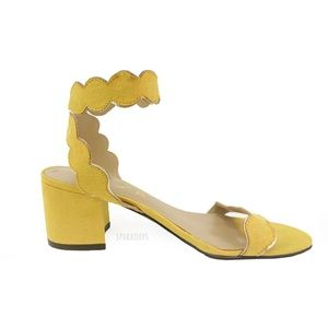 Unisa Yello Ruffle Strappy Ankle Strap Sandals 6.5